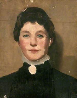 Portrait of a Woman in a Black Dress