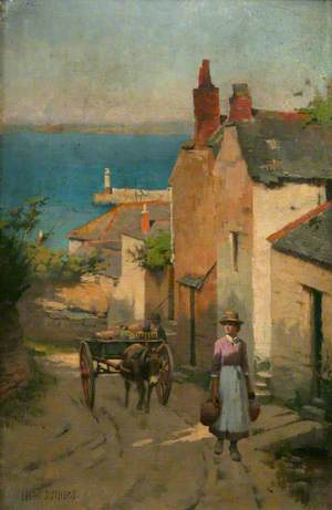 Newlyn from the Bottom of Adit Lane