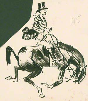 Huntsman Seated on a Horse after a Jump