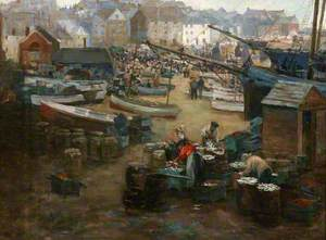 Packing Fish, St Ives Harbour