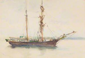 Barque with Sails Dropped