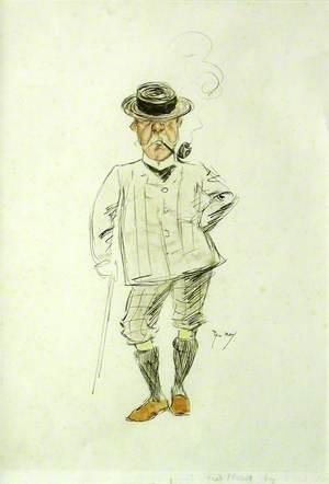 Cartoon of Fred Hall