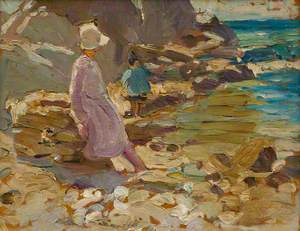 Untitled (Woman and Child on the Rocks)