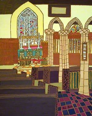 Interior of St Ia Church, St Ives