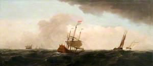 Dutch Flagship in a Gale