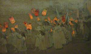 Jubilee Procession in a Cornish Village, June 1897