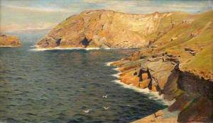 Cornish Cliff Scene