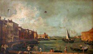 View of Venice towards the Island of San Secondo