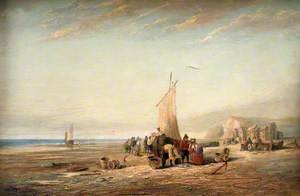 Coast Scene with Fisherfolk