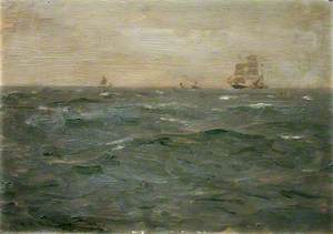 Seascape with Sailing Craft