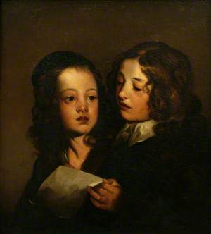 Two Children Singing