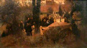 Burial of Lady Jane Swinburne (d.1896)