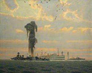Rescue of the Hospital Ship 'Aba' by HMS 'Coventry'