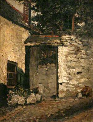 Courtyard in Newlyn Leading through to Myrtle Cottage