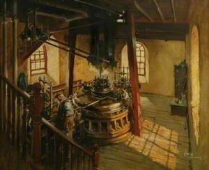 Beam Engine Cylinder with Figure