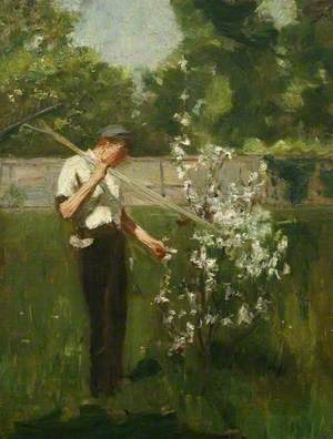 Boy with a Grass Rake