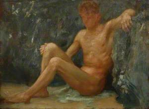 Bather Seated