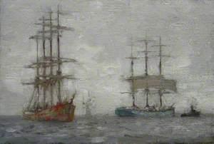 Sailing Ships and a Tug