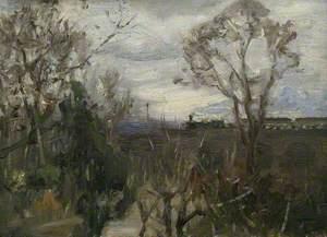Trees and Hanwell Viaduct