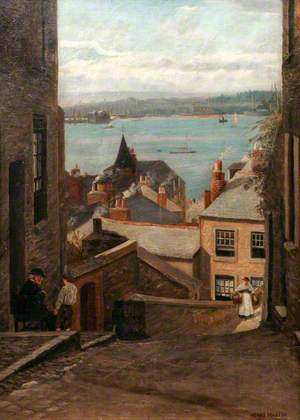 Waterside, Saltash, from Silver Street