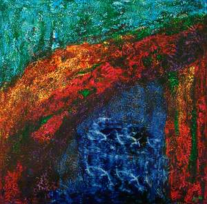 Painting No. 34: Reach in Reef Dreams