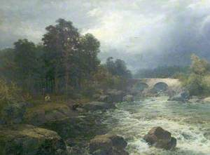 Anglers by a Rocky Torrent