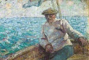 Sailor in a Boat at Sea
