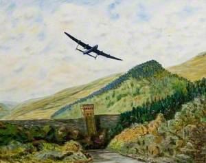 Lancaster over Derwent Dam