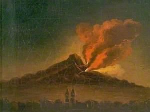 Vesuvius in Eruption, Italy