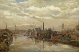 The River Derwent from the Great Northern Railway Bridge, Derby