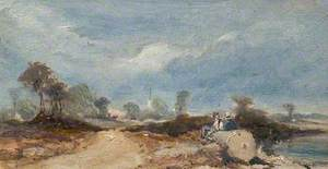 Rural Landscape with Figures and a Church*