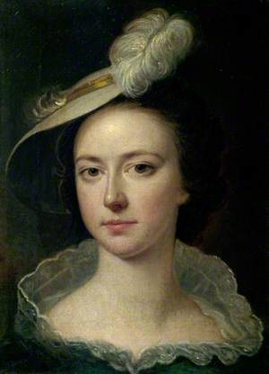 Hannah Wright (1732–1810), in a Feather Hat