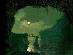 Bridge through a Cavern, Moonlight