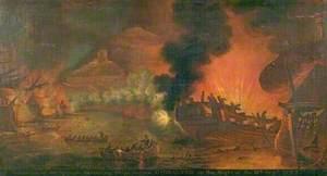 The Destruction of Spanish Battery Ships before Gibraltar