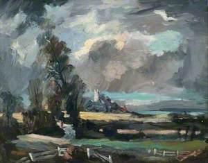 Landscape in Suffolk (Stoke-by-Nayland, Suffolk)