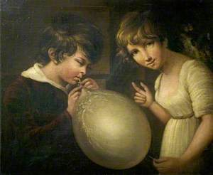 Boy and Girl with a Bladder
