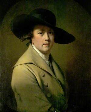 Self Portrait in a Broad-Brimmed Hat
