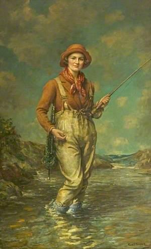 Trouting Portrait of Mrs George Strutt of Brailsford Hall, Derbyshire