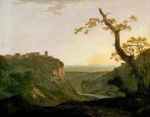 Italian Landscape, a View near Tivoli