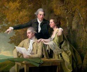 The Reverend D'Ewes Coke (1747–1811), His Wife Hannah, and Daniel Parker Coke (1745–1825)
