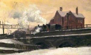 Steam Locomotive Entering Derby Midland Station