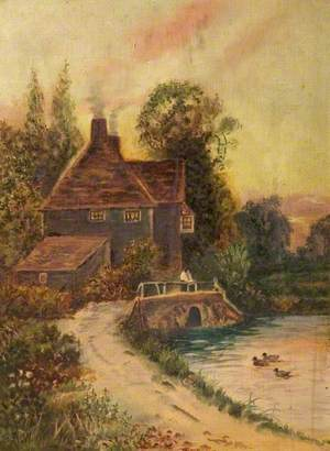 A Cottage and a Pond