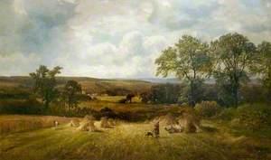 Harvest Scene, Barrow-on-Trent, Derbyshire