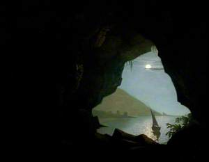 Grotto in the Gulf of Salerno, Italy, Moonlight