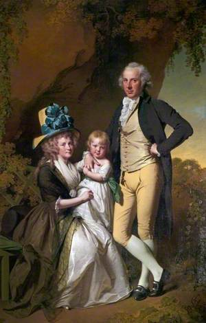 Richard Arkwright Junior (1755–1843), with His Wife Mary, and Daughter Anne
