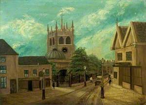 Old St Werburgh's Church, Derby, from Friargate