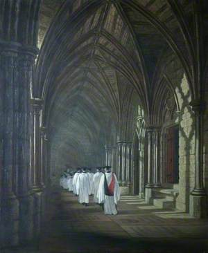 The Cloister and Choir, Westminster Abbey, London