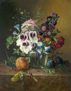 Still Life, Fruit and Flowers