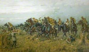 The Charge of the 12th Lancers at Moy, France, on 28 August 1914