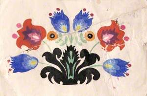 Folk Painting with Flowers